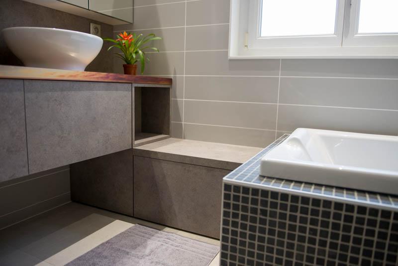 Salle de bain nature et m tal oxyde neufchateau quadra for Cuisine conception neufchateau